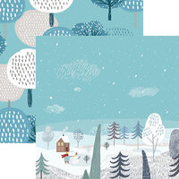 Reminisce -Winterscape Collection - 12 x 12 Double Sided Paper - Winterscape
