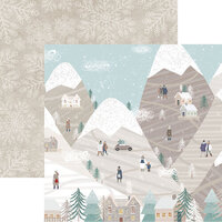 Reminisce -Winterscape Collection - 12 x 12 Double Sided Paper - Mountain Top