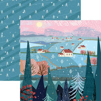 Reminisce -Winterscape Collection - 12 x 12 Double Sided Paper - Forest View