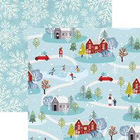 Reminisce -Winterscape Collection - 12 x 12 Double Sided Paper - Through the Woods
