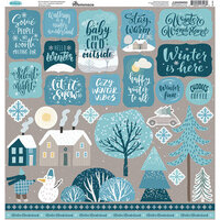 Reminisce -Winterscape Collection - 12 x 12 Elements Stickers