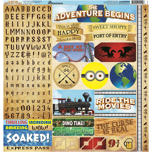 Reminisce Worlds of Adventure Cardstock Stickers