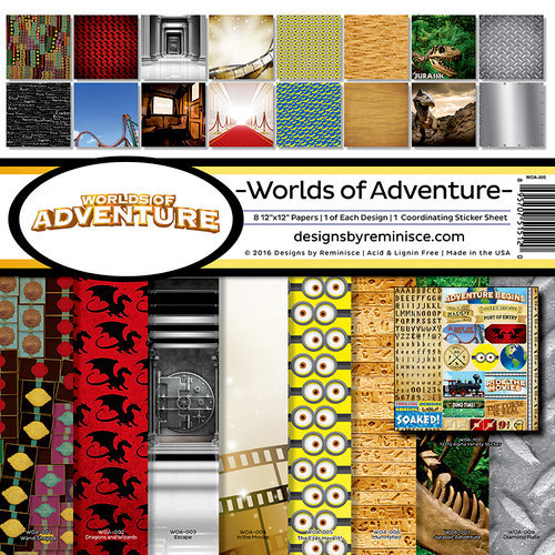 Reminisce Worlds of Adventure Collection Kit
