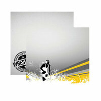 Reminisce - Wrestling Collection - 12 x 12 Double Sided Paper - Pin to Win