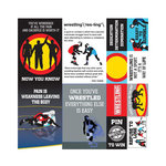 Reminisce - Wrestling Collection - 12 x 12 Cardstock Stickers - Poster