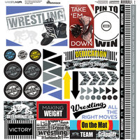 Reminisce - Wrestling Collection - 12 x 12 Cardstock Sticker Sheet