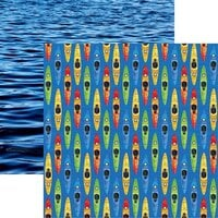 Reminisce - Watersports Collection - 12 x 12 Double Sided Paper - Kayaking