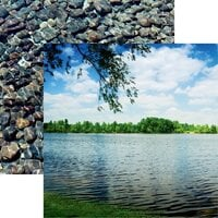 Reminisce - Watersports Collection - 12 x 12 Double Sided Paper - Lakeside