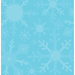 Reminisce - Winter Wonderland Collection - Iridescent Patterned Paper - Frosty Flakes, CLEARANCE
