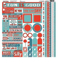 Reminisce - Wacky and Wild Collection - 12 x 12 Cardstock Stickers - Multi