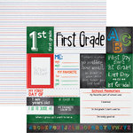 Reminisce - You've Been Schooled Collection - 12 x 12 Double Sided Paper - 1st Grade