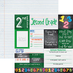 Reminisce - You've Been Schooled Collection - 12 x 12 Double Sided Paper - 2nd Grade