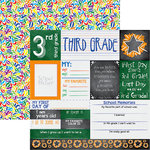 Reminisce - You've Been Schooled Collection - 12 x 12 Double Sided Paper - 3rd Grade