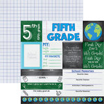 Reminisce - You've Been Schooled Collection - 12 x 12 Double Sided Paper - 5th Grade