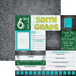 Reminisce - You've Been Schooled Collection - 12 x 12 Double Sided Paper - 6th Grade
