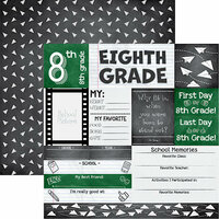 Reminisce - You've Been Schooled Collection - 12 x 12 Double Sided Paper - 8th Grade