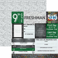 Reminisce - You've Been Schooled Collection - 12 x 12 Double Sided Paper - Freshman