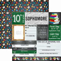 Reminisce - You've Been Schooled Collection - 12 x 12 Double Sided Paper - Sophomore