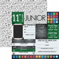 Reminisce - You've Been Schooled Collection - 12 x 12 Double Sided Paper - Junior