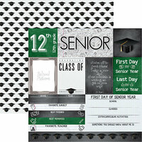 Reminisce - You've Been Schooled Collection - 12 x 12 Double Sided Paper - Senior