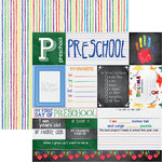 Reminisce - You've Been Schooled Collection - 12 x 12 Double Sided Paper - Preschool