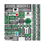 Reminisce - You've Been Schooled Collection - 12 x 12 Cardstock Stickers - Quotes - High School Quote