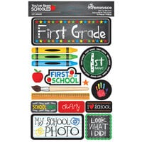 Reminisce - Youve Been Schooled Collection - 3D Cardstock Stickers - 1st Grade