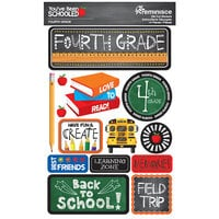 Reminisce - Youve Been Schooled Collection - 3D Cardstock Stickers - 4th Grade