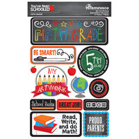 Reminisce - Youve Been Schooled Collection - 3D Cardstock Stickers - 5th Grade