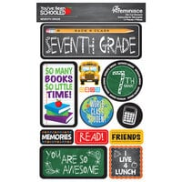 Reminisce - Youve Been Schooled Collection - 3D Cardstock Stickers - 7th Grade