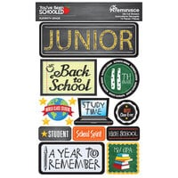 Reminisce - Youve Been Schooled Collection - 3D Cardstock Stickers - 11th Grade