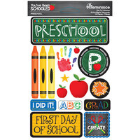 Reminisce - Youve Been Schooled Collection - 3D Cardstock Stickers - Preschool