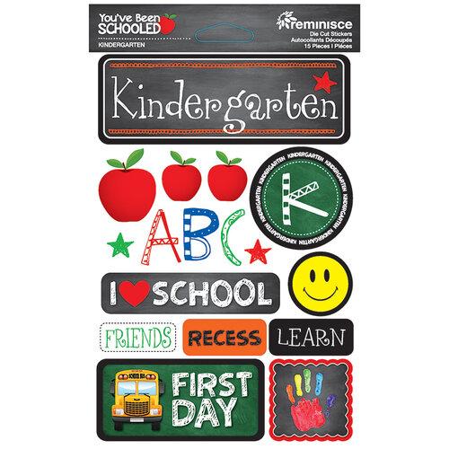 Reminisce - Youve Been Schooled Collection - 3D Cardstock Stickers - Kindergarten