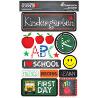 Reminisce - Youve Been Schooled Collection - 3D Cardstock Stickers - Kindergarten