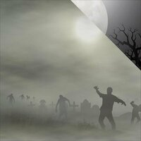 Reminisce - Zombies Collection - 12 x 12 Double Sided Paper - Attack