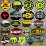 Reminisce - Zombies Collection - 12 x 12 Cardstock Stickers