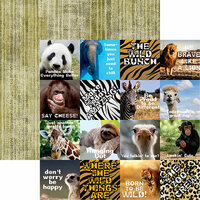 Reminisce - Zooventures Collection - 12 x 12 Double Sided Paper - Zooventures