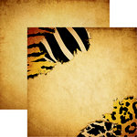Reminisce - Zooventures Collection - 12 x 12 Double Sided Paper - Wild Thing
