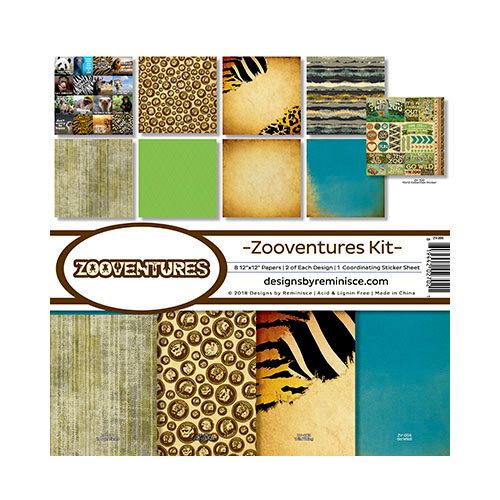Reminisce - Zooventures Collection - 12 x 12 Collection Kit