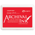 Ranger Ink - Wendy Vecchi - Archival Ink Pad - Jumbo - Carnation Red
