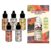 Ranger Ink - Tim Holtz - Alcohol Ink - Alloys and Blending Solution Bundle
