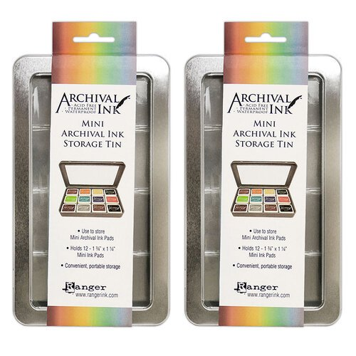 Ranger Ink - Mini Archival Ink Storage Tin - 2 Pack