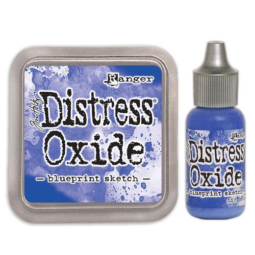 Scrapbook - Distress Oxide Blueprint Sketch