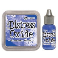 Ranger Ink - Tim Holtz - Distress Oxides Ink Pad and Reinker - Blueprint Sketch
