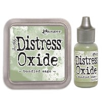 Ranger Ink - Tim Holtz - Distress Oxides Ink Pad and Reinker - Bundled Sage