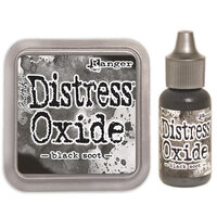 Ranger Ink - Tim Holtz - Distress Oxides Ink Pad and Reinker - Black Soot