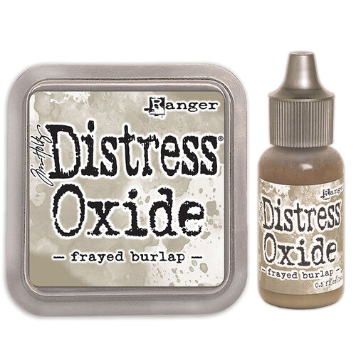 Ranger Ink - Tim Holtz - Distress Oxides Ink Pad and Reinker - Frayed Burlap