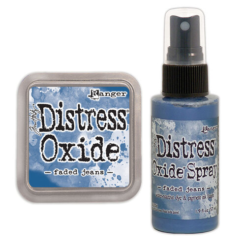 Ranger Ink - Tim Holtz - Distress Oxides Ink Pad and Spray - Faded Jeans