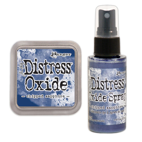 Ranger Ink - Tim Holtz - Distress Oxides Ink Pad and Spray - Chipped Sapphire