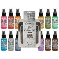 Ranger Ink - Tim Holtz - Distress Oxides Spray Kit - Bundle One with Spray Storage Tin